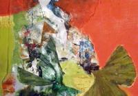 GingkoFrauen 20 x20 Collage auf Lw.