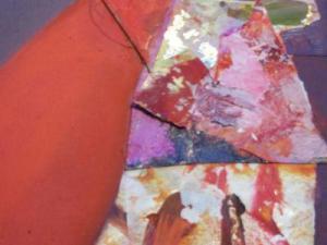 GingkoFrauen 20x20 Collage auf Lw.