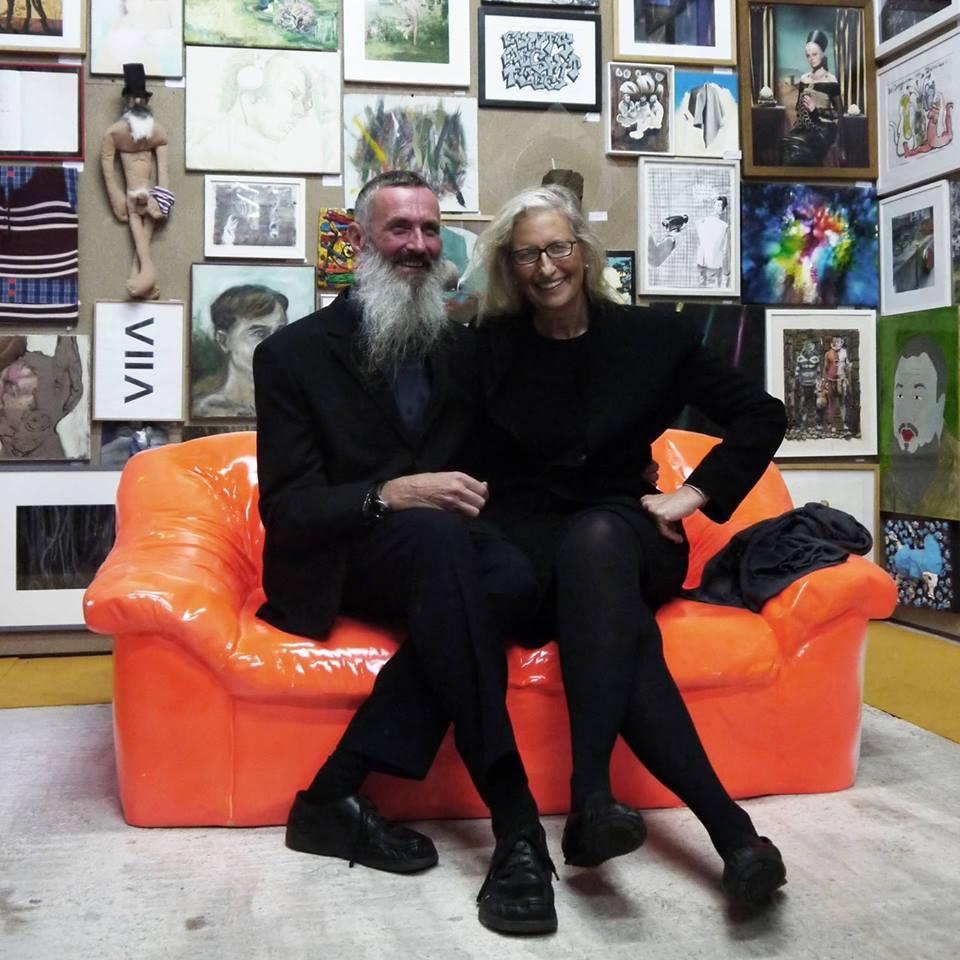 Mirek Macke und Annie Leibovitz